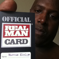Official Real Man Card Holder
